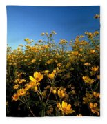 Lots Of Buttercups Against A Blue Sky Fleece Blanket