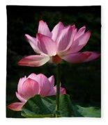 Lotus Beauties--upstaged Dl048 Fleece Blanket