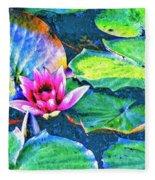 Lotus Blossom Fleece Blanket