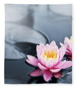 Lotus Blossoms Fleece Blanket