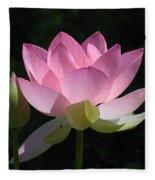 Lotus Bud--snuggle Bud Dl005 Fleece Blanket