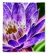 Lotus Close-up Fleece Blanket