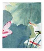 Lotus Figure Fleece Blanket
