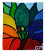 Lotus Flower 1 Fleece Blanket