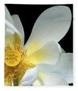 Lotus From Above Fleece Blanket