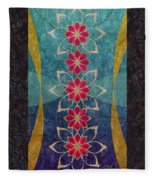 Lotus Garden Fleece Blanket