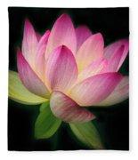 Lotus In The Limelight Fleece Blanket