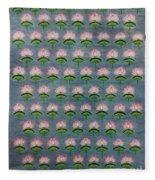 Lotus Pichwai Miniature Fleece Blanket