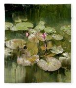 Lotus Pond 1 Fleece Blanket