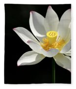 Lotus Reaching For The Sun Fleece Blanket