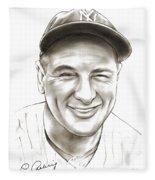 Lou Gehrig Fleece Blanket