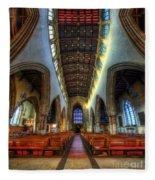 Loughborough Church - Nave Vertorama Fleece Blanket