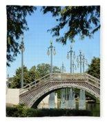 Louis Armstrong Park - New Orleans Fleece Blanket