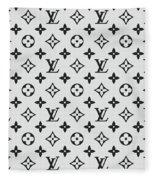 Louis Vuitton Pattern Lv 07 Grey Fleece Blanket