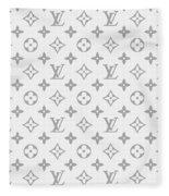 Louis Vuitton Pattern - Lv Pattern 14 - Fashion And Lifestyle Fleece Blanket
