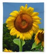 Louisa, Va. Sunflower 6 Fleece Blanket
