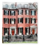 Louisburg Square Beacon Hill Boston Fleece Blanket