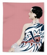 Louise Brooks In Hollywood Fleece Blanket