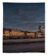 Louisville And Indiana Railroad At Jeffersonville Indiana Fleece Blanket