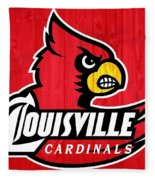 Louisville Cardinals Barn Door Fleece Blanket
