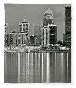 Louisville Gray Fleece Blanket