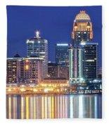 Louisville Kentucky Lights Fleece Blanket