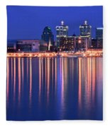 Louisville Lights Up Nicely Fleece Blanket