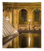 Louvre Courtyard Lamps - Paris Fleece Blanket