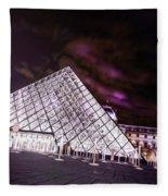 Louvre Museum 5 Art Fleece Blanket