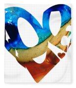 Love 6 - Heart Hearts Valentine's Day Fleece Blanket