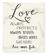 Love Always Fleece Blanket