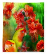 Love Among The Poppies Fleece Blanket