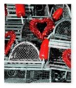 Love And Lobster Fleece Blanket
