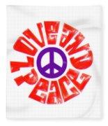 Love And Peace 14 Fleece Blanket