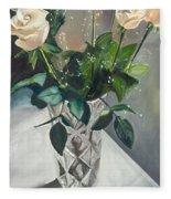 Love And Roses Fleece Blanket