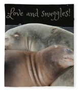 Love And Snuggles Fleece Blanket