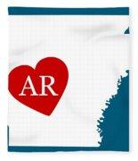 Love Arkansas White Fleece Blanket