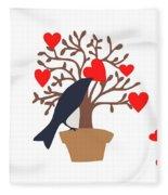 Love Bird Part 2 Fleece Blanket