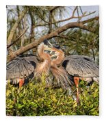 Love Birds - Great Blue Heron Fleece Blanket