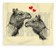 Love Camels Fleece Blanket
