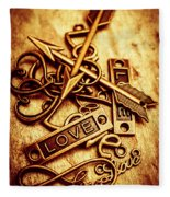 Love Charms In Romantic Signs And Symbols Fleece Blanket