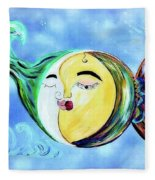 Love Connect - You Are My Moon And Sun Fleece Blanket