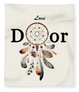 Love Dior Watercolour Dreamcatcher Fleece Blanket