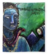Love For Shiva Fleece Blanket