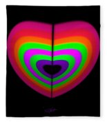 Love Heart Fleece Blanket
