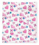 Love Hugs And Kisses Fleece Blanket