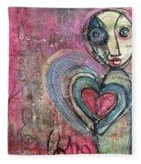 Love In All Things Fleece Blanket
