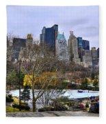 Love In Central Park Too Fleece Blanket