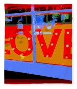 Love  In Lights Fleece Blanket