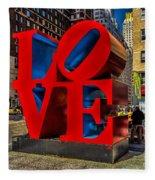 Love In Nyc Fleece Blanket